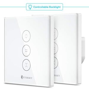 【LED controlable】 Interruptor ciego Alexa Wifi, Etersky en ...