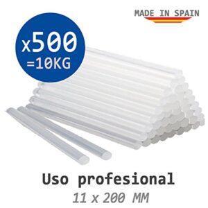 10 KG de TERMOFUSIBLE TAIL 500 barras de silicona translúcida ...