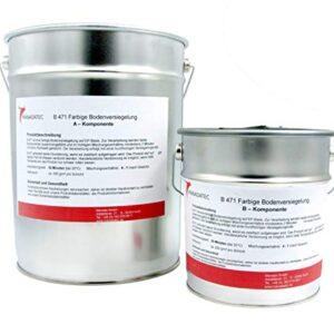 10 kg 50 m2 muchos colores RAL, 2 K, resina epoxi, recubierta ...