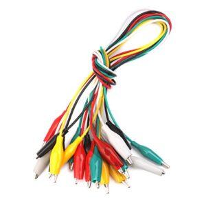 10 piezas 50 cm cocodrilo cable clips de alambre dos extremos pin ...