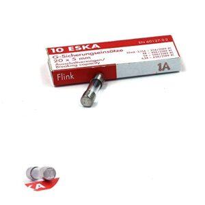 10 x fusible rápido (F) de vidrio 1 A / 250 VAC 5 x 20 mm