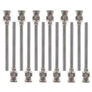 12 piezas de 3,8 cm en acero inoxidable 12 Ga Distributeur Distrib ...