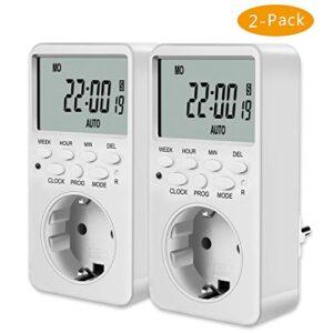 2x COCIER Programmable Plug, Timer Digital Programmer ...