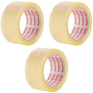 3 rollos de cinta de embalaje 48 mm x 66 m transparente para ...