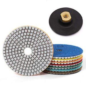 7 piezas de 4 pulgadas de pulido de diamante almohadilla húmeda para pulir ...