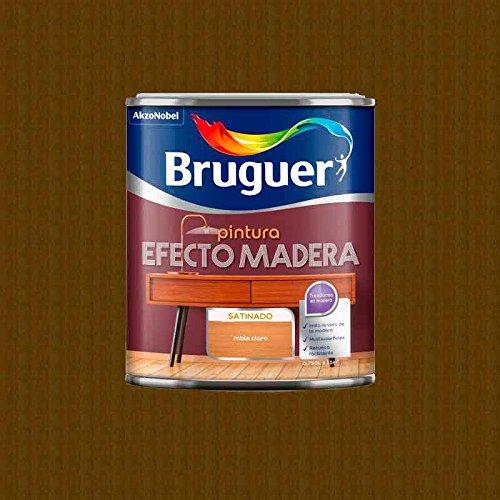 750 ml de esmalte efecto madera. (Roble claro)