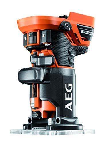 AEG BOF18BL-0 - Fresadora de bordes inalámbrica (18 V, motor ...