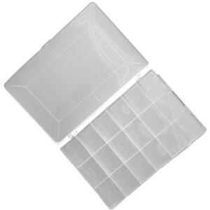 AERZETIX: Caja organizadora transparente 275x185x40mm con 18 ...