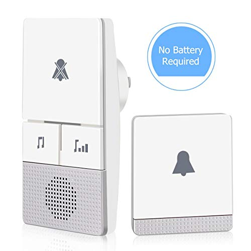 AUOPLUS Wireless Doorbell Electricidad autogenerada para ...