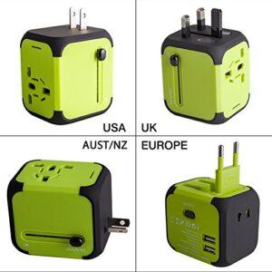 Adaptador de enchufe, cargador USB Milool, adaptador de corriente ...