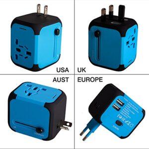 Adaptador de enchufe de viaje universal Dos puertos USB para ...