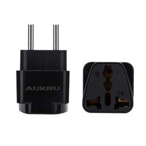 Adaptador de enchufe universal Aukru 2X UK / US / AU / Asia a EU, ...