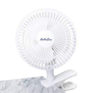 AirArtDeco Mini Clip Fan, 6 pulgadas, 2 configuraciones ...