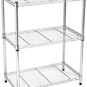 AmazonBasics - Estantería con 3 estantes, cromo