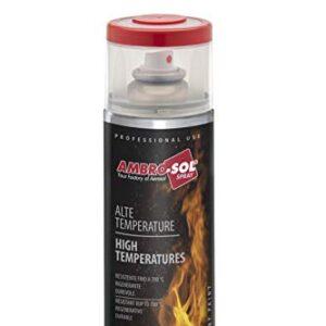Ambro-Sol V400TEMP. 8 pintura de alta temperatura, rojo, 400 ml