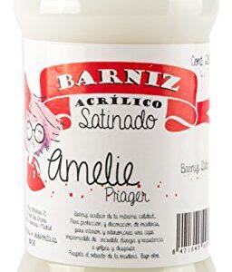 Amelie Prager 645109 Barniz de agua, blanco, 280 ml