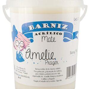 Amelie Prager 645111 Barniz de agua, blanco, 1 l