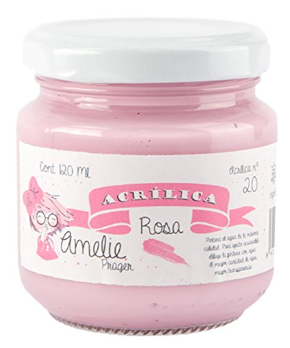 Amelie Prager AM120-20 Pintura acrílica, rosa, 120 ml