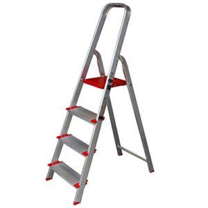 Ancho de escalera de tijera de aluminio 12 cm (4 peldaños ...