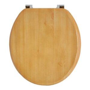 Anika - Asiento de inodoro (efecto madera de pino, bisagra ...