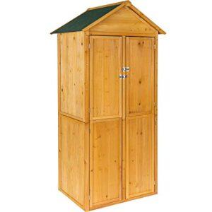 Armario de jardín de madera TecTake Outdoor House ...
