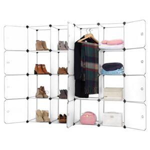Armario modular fino con 16 cubos (organizador de almacenamiento ...