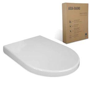 Asiento WC Aqua Bagno ZERO blanco D-FORM universal - plástico ...