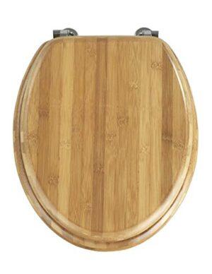 Asiento de inodoro Wenko Bambus, bambú, marrón oscuro, 42.5x ...