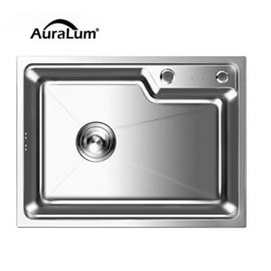 AuraLum Sink Kitchen - Sobre encimera de seno 58x43x22cm, ...