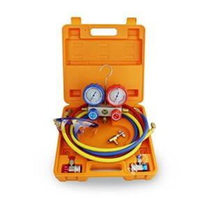BACOENG Medidor de colector AC Kit de manómetro Colector de medición ...
