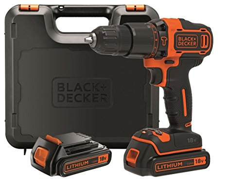 BLACK + DECKER BDCHD18KB-QW - Martillo perforador 18V, 40 Nm, con ...