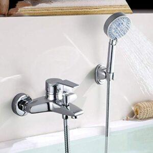 BONADE Grifo de bañera con alcachofa de mano (cinco modos), ...