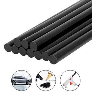 BUZIFU Barras de silicona negras, 10 piezas de barras de ...