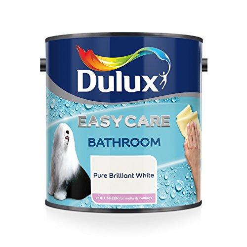 Baño Dulux Easycare - Pintura suave brillante, Blanco (P ...