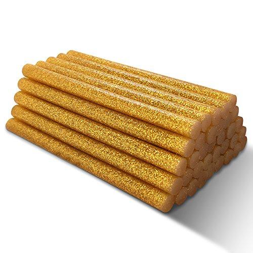 Barras de pegamento dorado con fusión en caliente con brillo ...