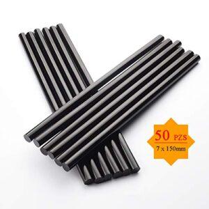 Barras de silicona de repuesto de 50 piezas, adhesivos de 7 mm * 150 mm ...