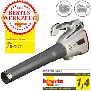 Batería Ikra - IAB 40-25 soplador de hojas, ergonómico, velo ...