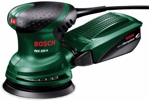 Bosch PEX 220 A - Lijadora excéntrica (220 W, placa de lijado Ø ...