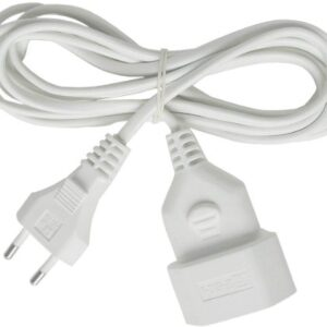 Brennenstuhl 1161660 Cable de plástico 230 V, blanco 3 metros ...