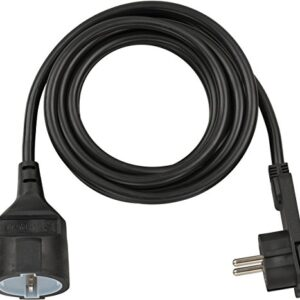 Brennenstuhl 1168980030 Cable de plástico, 230 V, negro, 3 m