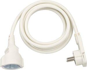 Brennenstuhl 1168980220 Cable de plástico, 230 V, blanco, 2 m