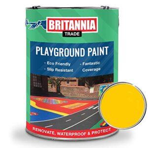 Britannia - Pintura amarilla para suelos de asfalto y hormigón ...