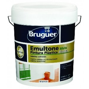 Bruguer emultone blanco mate 15 lt pintura plástica