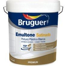 Bruguer emultone blanco satinado 15 lt pintura plástica