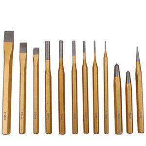 CCLIFE 12 piezas Juego de aldabas / cinceles / granates