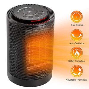 COMLIFE Calentador eléctrico de cerámica 1200W / 600W con termo ...