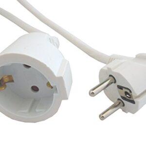 Cable de extensión de 5 metros Blanco 3x1.5mm H05VV-F