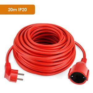 Cable de extensión eléctrico SIMBR Cable de extensión de corriente de 20 m IP20 ...