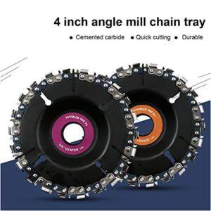 Cadena de 4 pulgadas, ángulo de placa, rueda, talla de madera ...