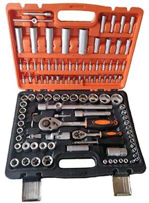 Caja de herramientas 108 piezas con llaves de vaso CARRAC ...